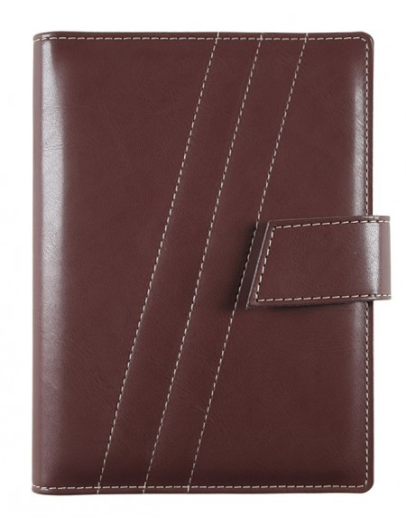 FRONT LINE Diary - cm 15x21 / 17x24 - daily - dark brown