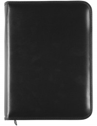 METAL SLEEKER Genuine Leather diary with zip fastening and daily or weekly sections - cm 17x24 - black