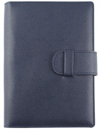 EASY Genuine Leather daily diary - cm 15x21 blue