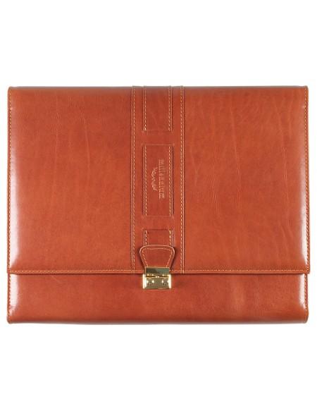 MILLENNIUM Genuine leather tri-fold weekly planner - cm 21x30 - buff