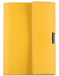 Reclaimed leather daily diary - cm 12x17 - yellow