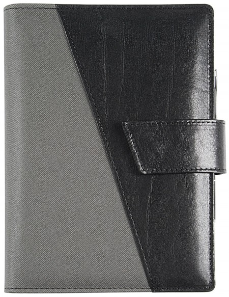 Agenda in vera pelle*leathertex B-Side giornaliera 15x21 / 17x24 Nero