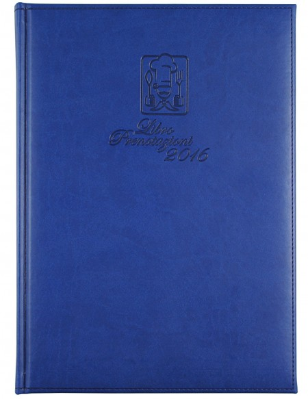 Soft faux leather Reservation Book - 564 pages - cm 21x29,7 - blue