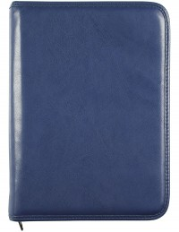 PICASSO diary with zip fastening, daily or weekly sections - cm 15x21 / 17x24 - blue