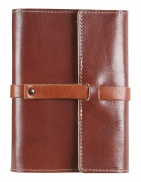 VINTAGE Genuine Leather daily diary - cm 12x17 - tobacco/buff