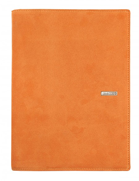 SUEDE leather diary - cm 15x21/17x24 - daily or weekly - orange