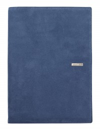 SUEDE leather diary - cm 15x21/17x24 - daily or weekly - blue