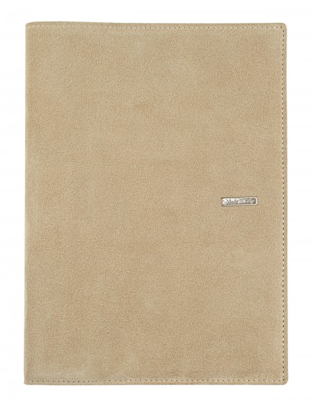 SUEDE leather diary - cm 15x21/17x24 - daily or weekly - beige