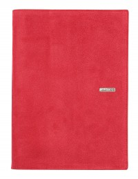 SUEDE leather diary - cm 15x21/17x24 - daily or weekly - red