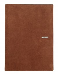 SUEDE leather diary - cm 15x21/17x24 - daily or weekly - dark brown