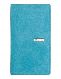 SUEDE pocket weekly planner – cm 8x15 - sky blue