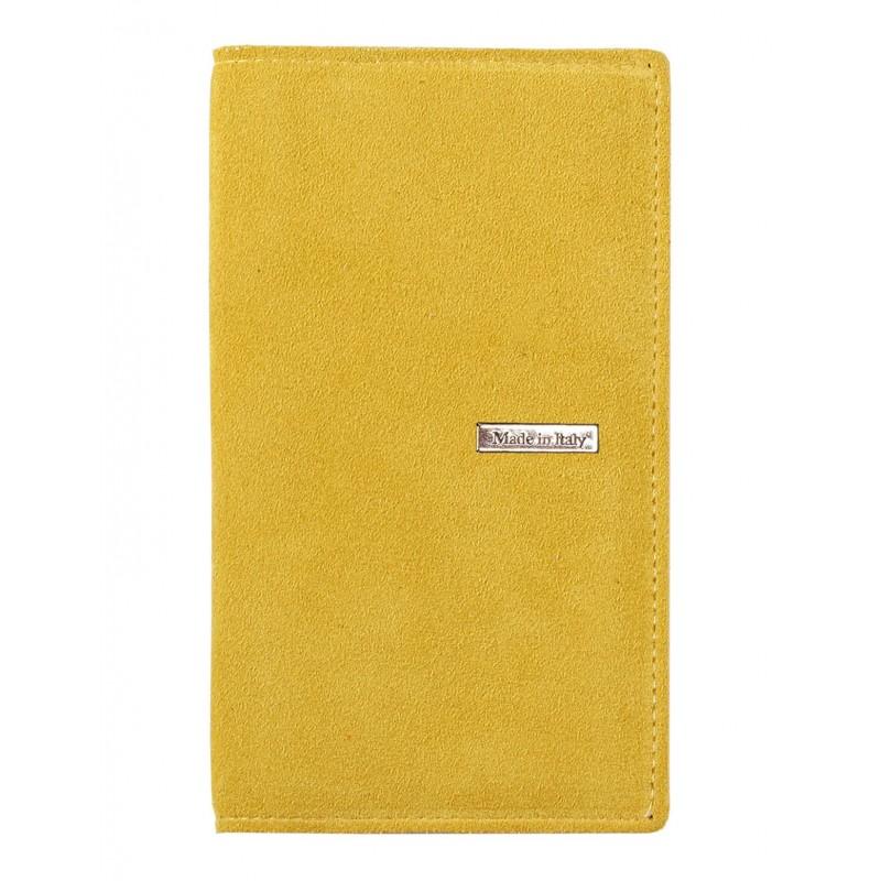 Agenda Tascabile Suedein Pelle Scamosciata gialloSettimanale 8x15