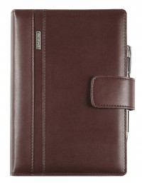 DIPLOMAT faux leather diary with daily or weekly sections - cm 15x21/17x24 - dark brown