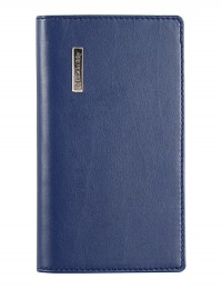 DIPLOMAT faux leather pocket weekly planner - cm 8x15 - blue