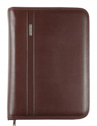 DIPLOMAT faux leather diary with zip fastening - cm 15x21/17x24 - daily or weekly - dark brown