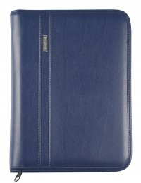 DIPLOMAT faux leather diary with zip fastening - cm 15x21/17x24 - daily or weekly - blue