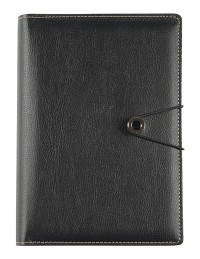 PRECIOUS faux leather diary - cm 15x21/17x24 - daily or weekly - black
