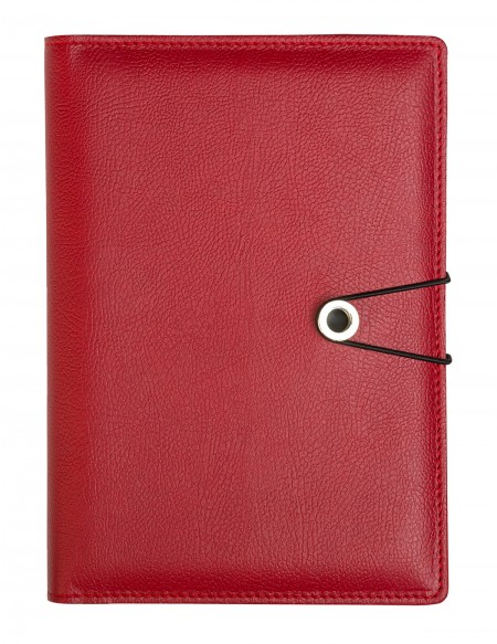PRECIOUS faux leather diary - cm 15x21/17x24 - daily or weekly - red