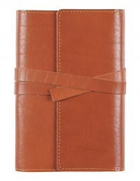 VINTAGE Genuine Leather daily diary - cm 12x17 - buff