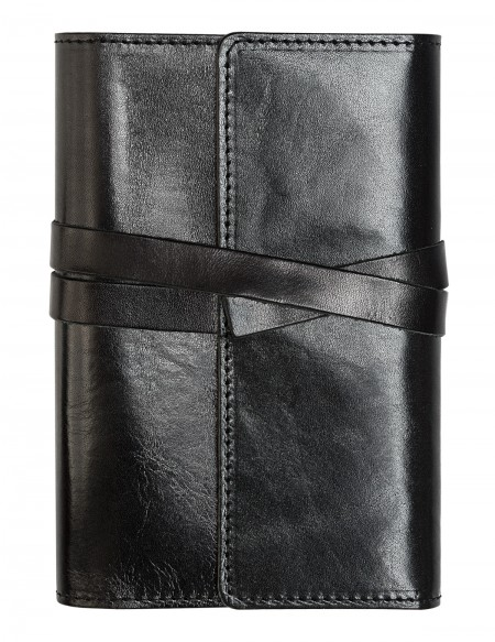 VINTAGE Genuine Leather daily diary - cm 12x17 - black