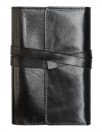 VINTAGE Genuine Leather daily diary - cm 12x17 - black