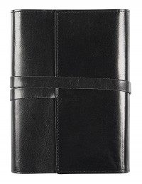 VINTAGE Genuine leather diary with daily or weekly sections - cm 15x21/17x24 - black