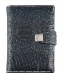 Croco Genuine Leather Diary 15x21 daily-17x24 daily or weekly