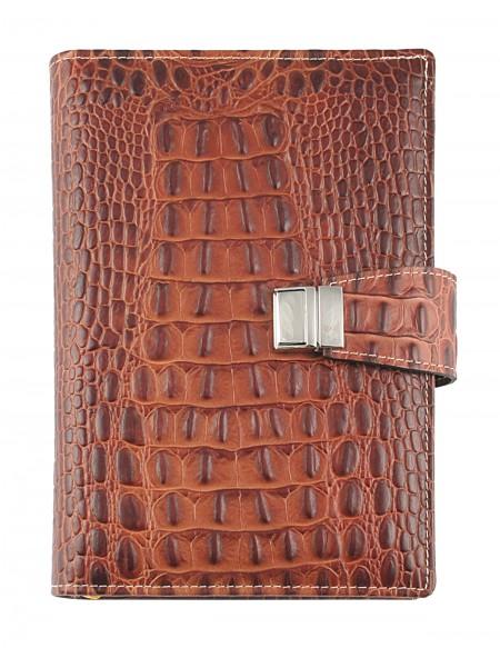 Croco Genuine Leather Diary 15x21-17x24 daily-rust