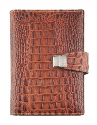 Croco Genuine Leather Diary 15x21-17x24 daily-rust