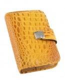 Organizer settimanale in vera pelle ''cocco'' 13x19 giallo