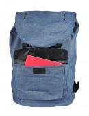 Zaino doppia protezione porta Computer color azzurro