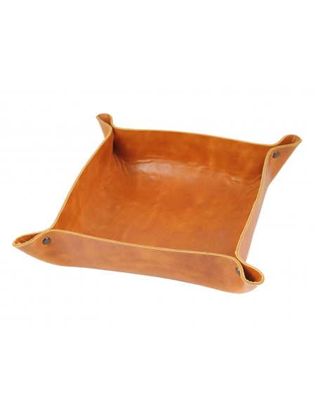 Genuine leather Coin tray-yellow