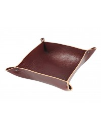 Genuine leather Coin Tray-dark brown