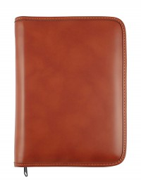 """""""Basic"""" diary with zip fastening, daily or weekly sections - cm 15x21 / 17x24 - buff"""