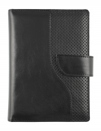 """Milano"" Genuine leather diary 15x21 daily/17x24 daily or weekly - black"