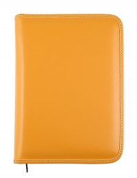 PICASSO diary with zip fastening, daily or weekly sections - cm 15x21 / 17x24 - yellow