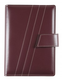 FRONT LINE Diary - cm 15x21 / 17x24 - daily or weekly - burgundy