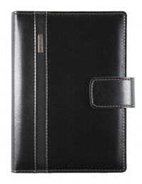 DIPLOMAT diary - cm 17x24 - daily or weekly sections - black