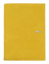SUEDE leather diary - cm 15x21/17x24 - daily or weekly - yellow