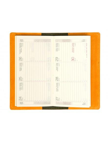 Agenda Tascabile Suedein Pelle Scamosciata arancio Settimanale 8x15