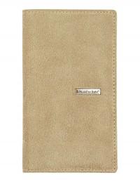 SUEDE pocket weekly planner – cm 8x15 - beige