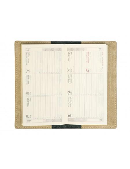 Agenda Tascabile Suedein Pelle Scamosciata beigeSettimanale 8x15