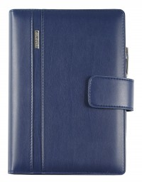 DIPLOMAT faux leather diary with daily or weekly sections - cm 15x21/17x24 - blue