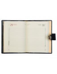 Agenda in Vera Pelle Blu - Elegant - Giornaliera 15x21 Giornaliera-Settimanale 17x24