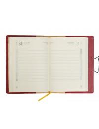 Agenda Precious in Similpelle Rosso Giornaliera 15x21 Giornaliera/Settimanale 17x24