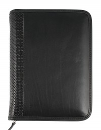 ELEGANT Genuine leather diary - cm 15x21/17x24 - daily or weekly - black