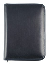 ELEGANT Genuine leather diary - cm 15x21/17x24 - daily or weekly - blue