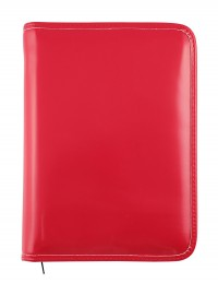 """""""Basic"""" diary with zip fastening, daily or weekly sections - cm 15x21 / 17x24 - red"""