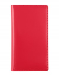 """Basic"" faux leather pocket planner - cm 8x15 - red"