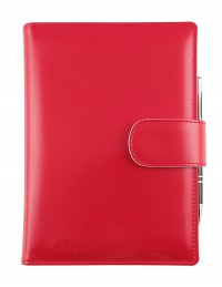 """""""Basic"""" diary with daily or weekly sections - cm 15x21 / 17x24 - red"""
